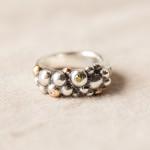 Silver och guldbubblor med diamanter och briljanter