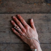 Armbandsring sötvattenspärlor