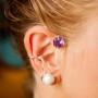 Örhänge ametist och sötvattenspärla - Örhänge ametist och sötvattenspärla