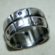 Silverring med zikon