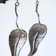 Silverlöv örhängen