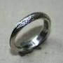 Silverring mönster - Tunn silverring med mönster