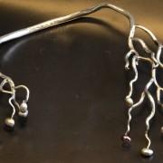 Halscollier pärlor