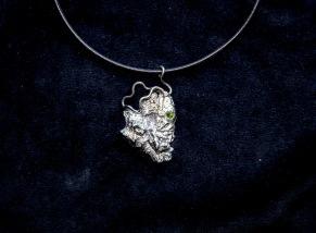 Halsband med turmalin -