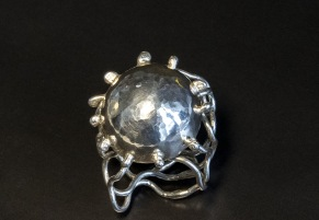 Silvermanet - Manet silverring