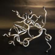 Silverkrona med sötvattenspärlor