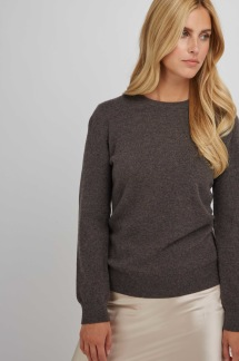 Basic Sweater dark brown - Basic Sweater M