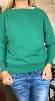 Boat Neck Sweater green - Boat Neck sweater green M