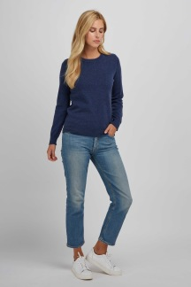 Basic sweater denim blue - Basic sweater denim blue S