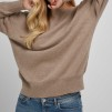 Boat Neck Sweater sand - Boat Neck sweater sand L