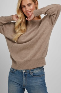 Boat Neck Sweater sand - Boat Neck sweater sand S