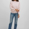 Boat Neck Sweater light pink