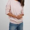 Boat Neck Sweater light pink