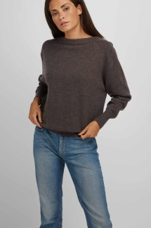Boat Neck Sweater dark brown - Boat Neck sweater dark brown  S