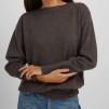 Boat Neck Sweater dark brown