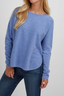 Curved Sweater sky blue