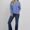 Curved Sweater sky blue