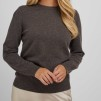 Basic Sweater dark brown