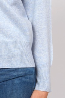Boat Neck Sweater light blue