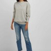 Boat Neck Sweater light grey