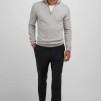 Man half zip Davida - Man half zip light grey XL