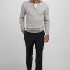 Man half zip Davida - Man half zip light grey XL