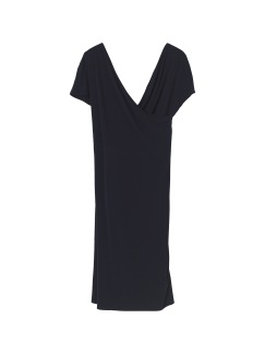 Crepe dress black - Crepe dress black XS