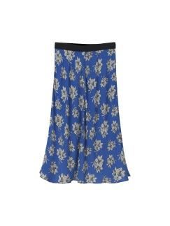 Printed Skirt - Printed skirt vintage blue 34