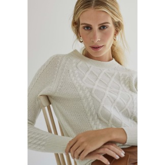 CABLE DETAIL SWEATER