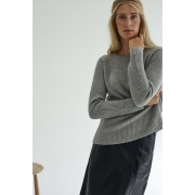 CHUNKY O-NECK RIB SWEATER