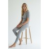PANEL LEGGINGS cashmere - PANEL LEGGINGS grey L