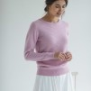 O-NECK V DETAILED SWEATER - O-NECK V DETAILED SWEATER pink L