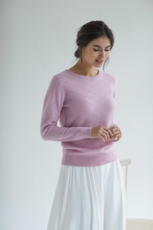 O-NECK V DETAILED SWEATER - O-NECK V DETAILED SWEATER pink S