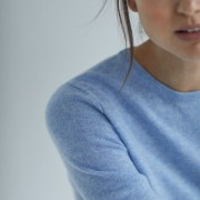 Basic sweater dusty blue