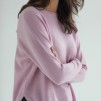 Curved Sweater flera färger finns - Curved Sweater light pink  L