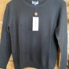 O-NECK V DETAILED SWEATER - O-NECK V DETAILED SWEATER black L