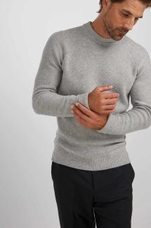 Man raglan box sweater Davida - Man raglan box sweater light grey M