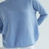 Curved Sweater flera färger finns - Curved Sweater light blue L