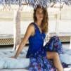 Sunshine wrap dress - Sunshine wrap dress blue L