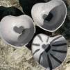 hjärtformad skål i Raku