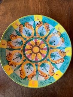 Handmålad skål 28cm - handmålad skål 28 cm med ornament
