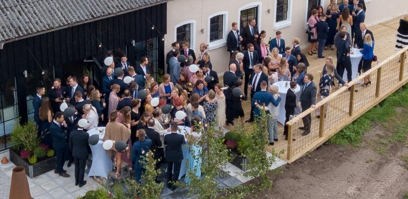 Festlokal i Skåne, lantlig miljö, 120 personer, bröllop, fest