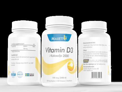 D-Vitamin 2000 ie (120 veg kapslar)