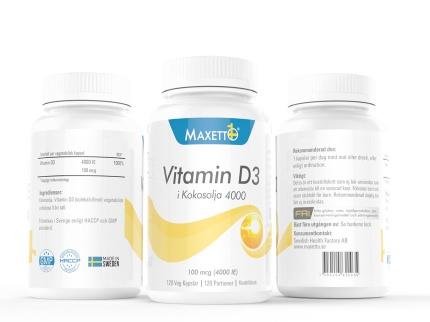 D-Vitamin 4000 ie (120 veg kapslar)