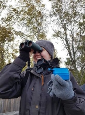 Hanna Hederberg, Rapphönan Östergötland, i skådartagen. Foto: Sofie Hellman