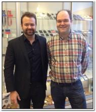 2013-01-18 Besök på Card Keep AB - Westley Pannell & Håkan Boquist