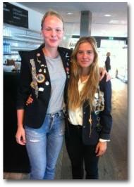 2013-06-14 Utbytesstudenterna Sara Lundell & Klara Sundberg