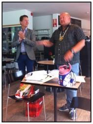 2013-08-16 President Owe Mabäck och Skattmästare  Stefan Strid presenterar mål o budget