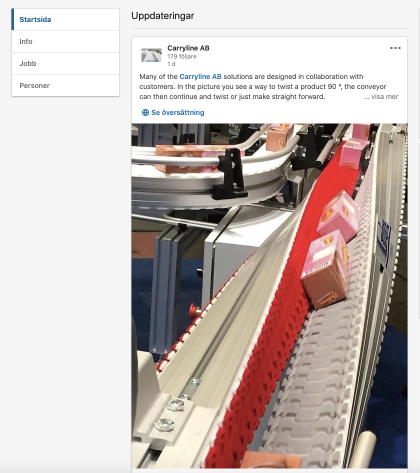carryline conveyors spirals automation on Linkedin