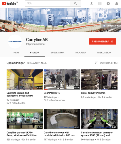 carryline conveyors spirals automation on youtube
